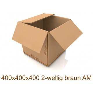 Karton 400x400x400 2-wellig braun AM