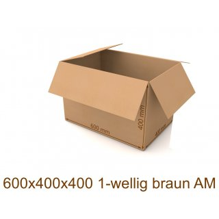 Karton 600x400x400 1-wellig braun AM
