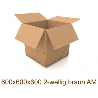 Karton 600x600x600 2-wellig braun AM
