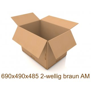 Karton 690x490x485 2-wellig braun AM