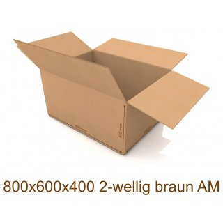 Karton 800x600x400 2-wellig braun AM